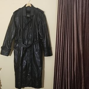 Legacy Vtg. Genuine Leather Trench Coat XL
